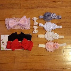 Other - Baby girl bow/headband lot NWOT